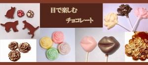 目で楽しむチョコレート♡ 美味しそうです。