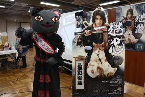 「猫忍」「ねこあつめの家」ミニ・シアターには、猫忍主演の大野拓朗さん等身大パネルが!