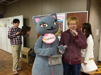 ラブラブ♡な新井大樹さんとびじゅたん。ニコ生中継の一コマです。