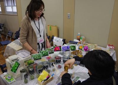 10種類のハーブから、お好みのハーブを選びます。(写真:harunatsuko)